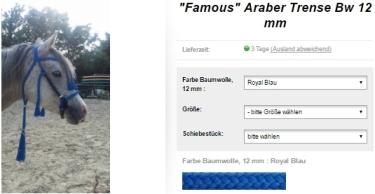 araber-trense-famous-trense-zuegel-polyyester-farbauswahl-fieracavalli-messe-neuheit-spezial-offer-blau